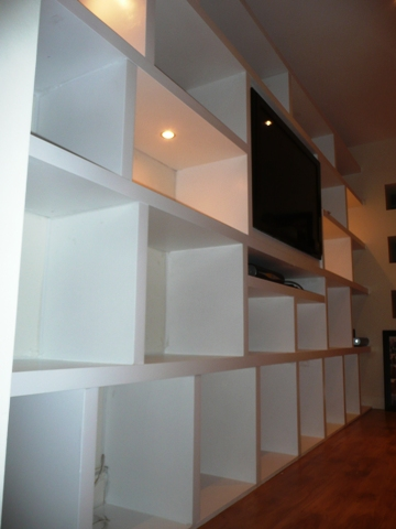 home office cabinets and   shelving installations